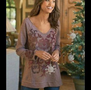 New Soft Surroundings XS Renaissance Sweatshirt